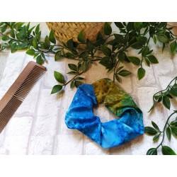 Chouchou motif Batik Bleu